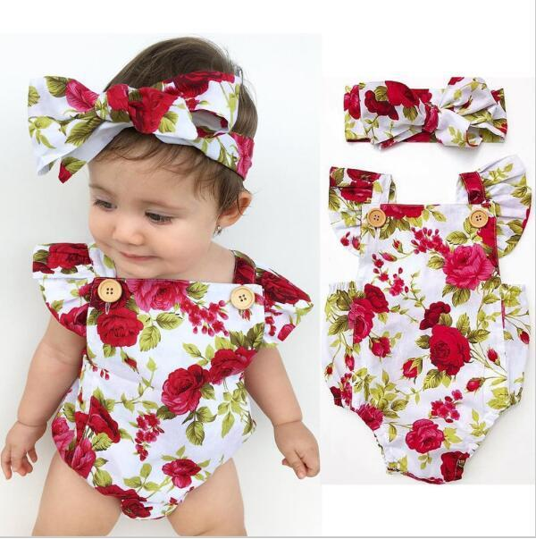 Aliexpress Com Buy Rose Baby Romper Vintage Baby Girls