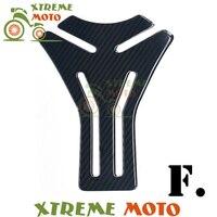 Universal Fishbone Carbon Fiber 3D Motorcycle Tank Pad Tankpad Protector Sticker For Honda Kawasaki Yamaha Suzuki Bmw