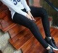 Повседневная Женщины Карандаш Брюки Плюс Размеры xxxl 2016 Осенние Брюки 4XL Середина Эластичный Пояс Тонкий Брюки Большой Размер Женской Одежды черный