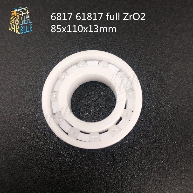 Free shipping 6817 61817 full ZrO2 ceramic deep groove ball bearing 85x110x13mm good quality free shipping 605 full zro2 ceramic deep groove ball bearing 5x14x5mm good quality p5 abec5