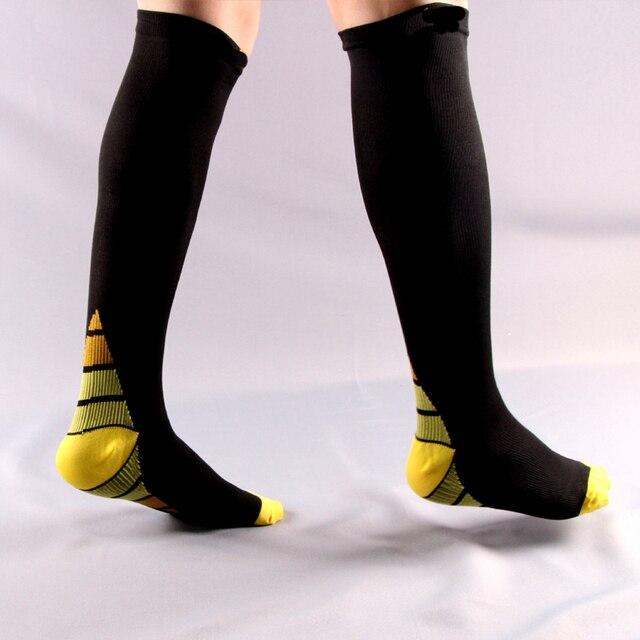 6pair/lot Men and women Compression Socks gradient Pressure Circulation Anti-Fatigu Knee High Orthopedic Support Stocking 1