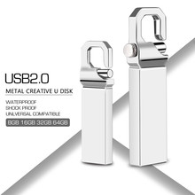 Usb Flash Drive 32gb 2.0 Metal Keychain Portable Pen Drive 4GB 8GB 16GB 64GB 128GB Waterproof Flash Stick Pendrive Custom LOGO