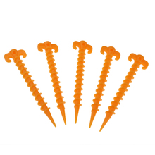 5 Pieces Camping Tent Nail Pegs 7.68 Inch Ultralight Nylon Plastic for Outdoor Beach Sand Spike Adventure