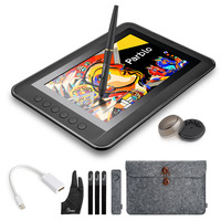 Parblo Mast10 10 1 Inches Graphic Monitor With Shortcut Keys And Batteryless Pen Passive Stylus Mini