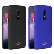 OnePlus 6 Case 1+6 Cover IMAK Cowboy Series Phone Stand Frosted Hard PC Back Cover Case For OnePlus 6 Gift Screen Protector