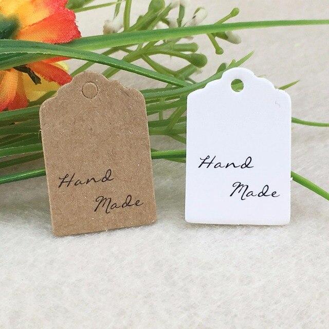 1000pcs hand made kraft paper label marked card wedding decoration