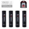 4 шт./лот Soshine 18650 3 2 V 1800mAh LiFePO4 батарея с защищенным PCB + 2pc чехол для батареи