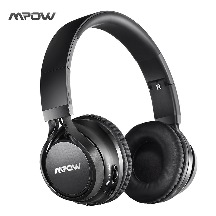 bilder für NEUE Mpow bluetooth kopfhörerkopfhörer verkabelt & wireless stereo headset bluetooth 4,0 HANDS-FREE AUFRUF 3,5mm jack MIC kopfhörer