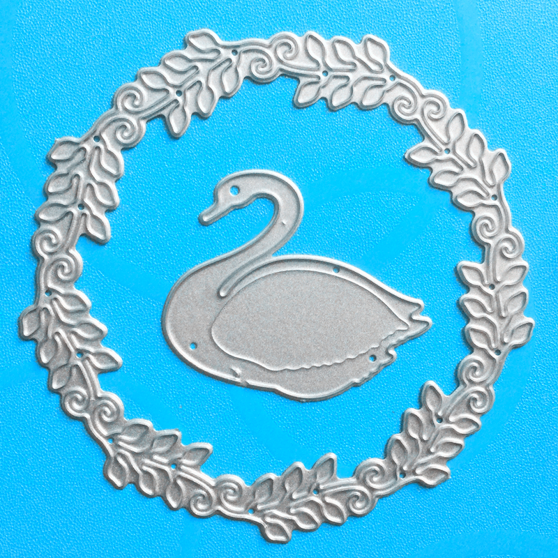 YLCD1076 Swan Metal Cutting Dies For Scrapbooking Stencils DIY Album Cards Decoration Embossing Folder Craft Die Cuts Tools New in Cutting Dies from Home Garden