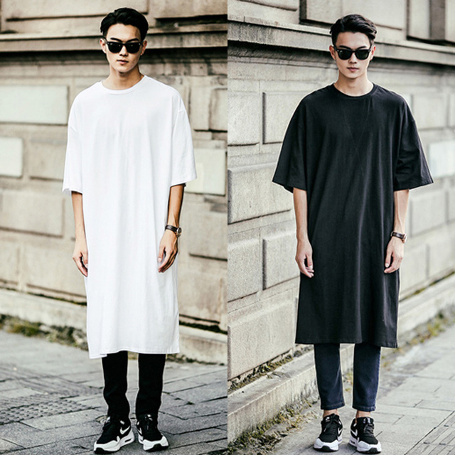 Men Classy Oversized Korean Fashion Vintage Stylish Casual Tee Shirt Modern Tops