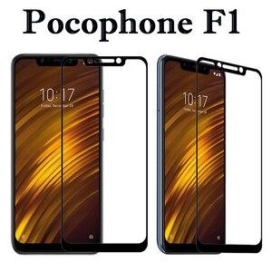 Image 2 - מזג זכוכית עבור Xiaomi Pocophone F1 מסך מגן על Xiomi Pocophone F1 Poko F 1 1F Poco מגן זכוכית מלא כיסוי סרט
