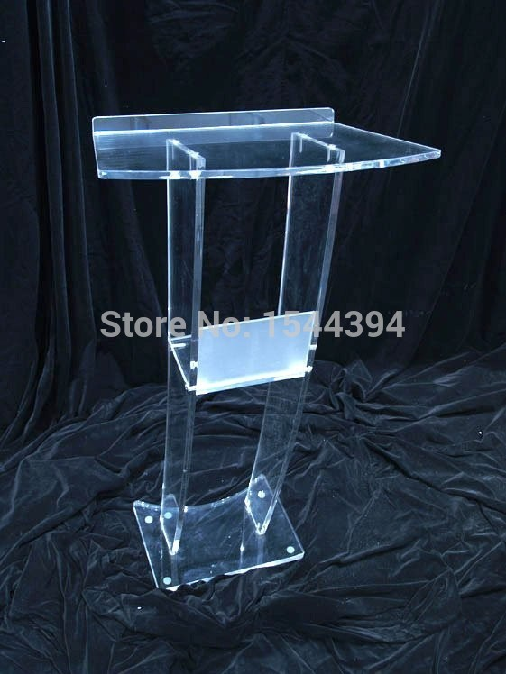 Clear Acrylic Podium/clear Acrylic Furniture Hot Sell Simple Solid European Design Factory Sell Clear Acrylic Podium