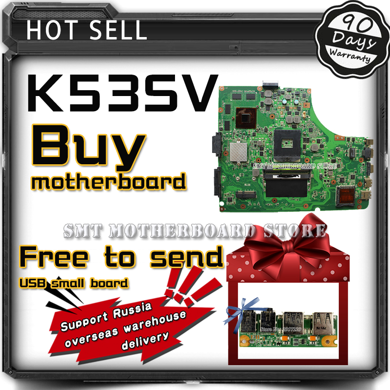 Original For ASUS K53SJ K53SC A53S K53S X53S P53S K53SV REV:3.1 USB3.0 GT540M 2G Laptop Motherboard System Board Main Board