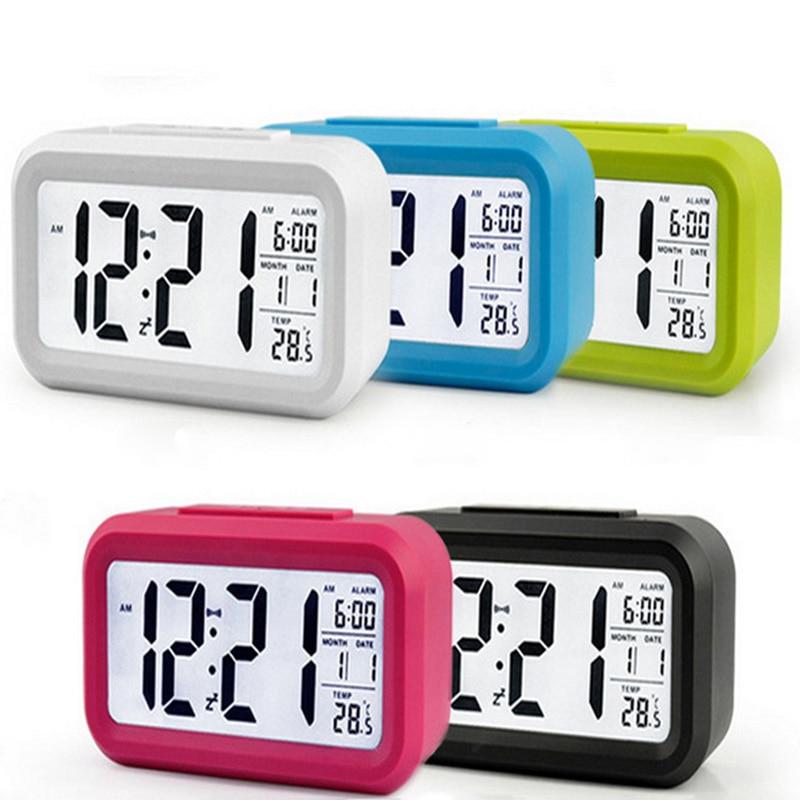 LED Digital Table Clocks Temperature Meter Snooze Alarm Timer Luminous Induction Table Watch Night Light Creative Fashion Clock