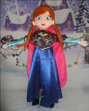 Sale Anna Mascot Costume Fancy Party Dress Elsa Mascot Costume Suit Carnival Costume