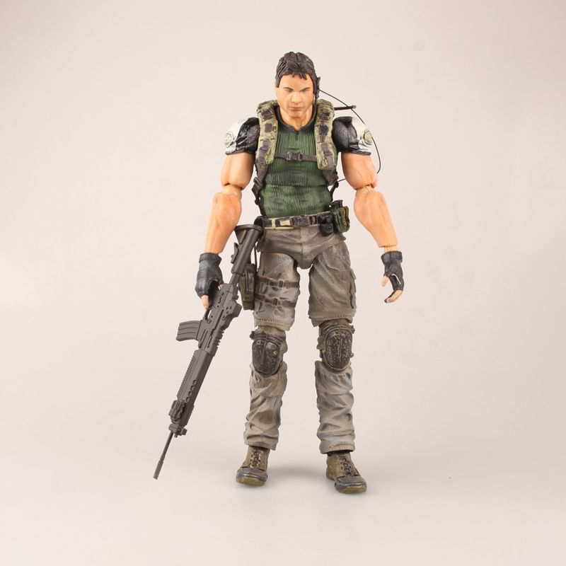 Anime Figure 25CM Biohazard 5 Resident Evil 5 Chris Redfield PVC Action Figure Collectible Model Toy Christmas GiftAnime Figure 25CM Biohazard 5 Resident Evil 5 Chris Redfield PVC Action Figure Collectible Model Toy Christmas Gift
