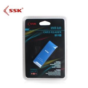 Image 5 - SSK USB 3.0 2 في 1 قارئ بطاقات عالية السرعة USB 3.0 SD/ Micro SD/SDXC/TF/T Flash ذاكرة محوّل قارئ البطاقات SCRM331