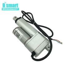 Bringsmart SRA-DW 50 мм ход 2 дюйма 12 В DC Линейный потенциометр привод 5-40 мм/сек. нагрузка 900N DC цилиндрический Электрический мотора