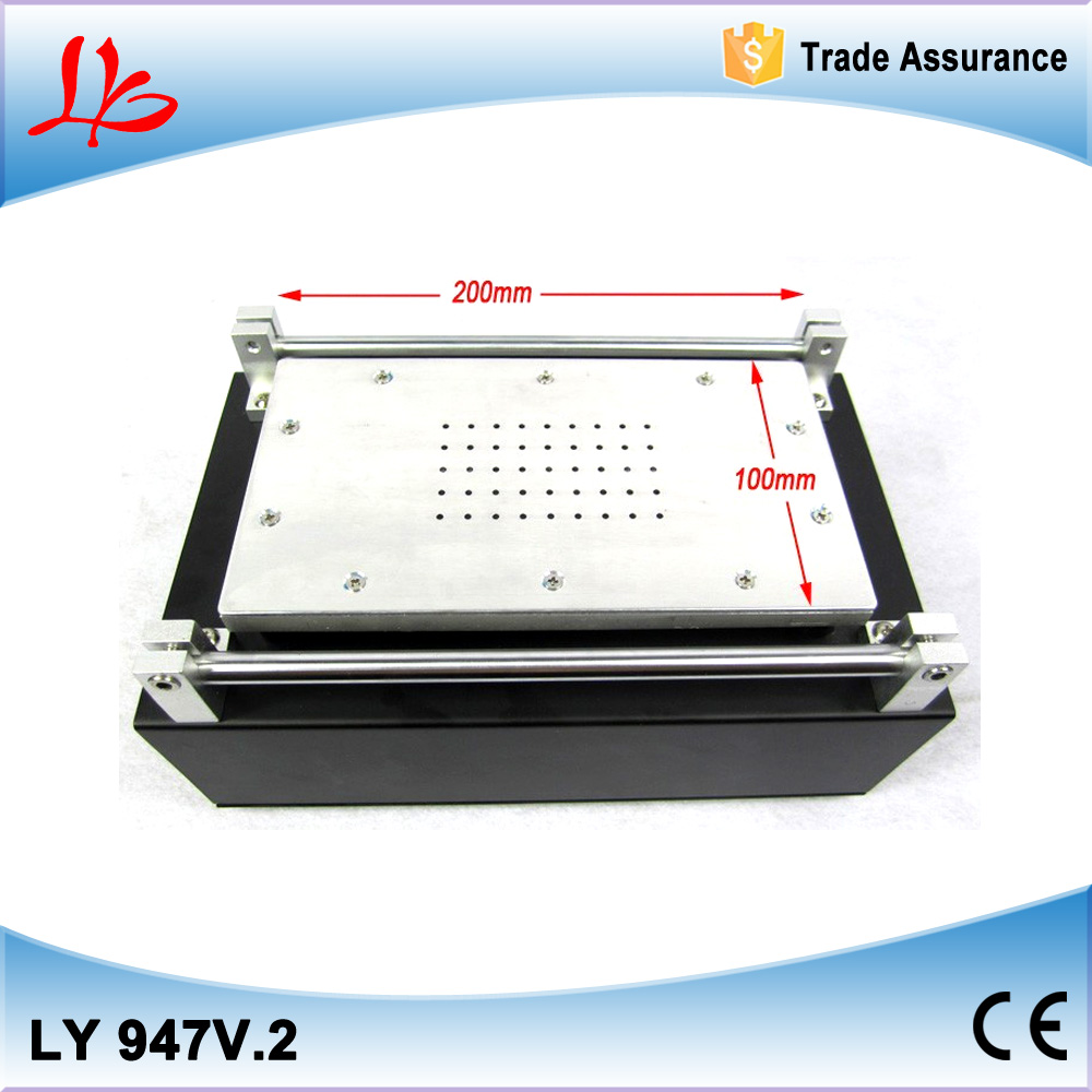 LY 947 V.2 LCD separating machine with buit in vacuum pump, LCD refurbishing equipment, glass separator machine, heat plate built in air vacuum pump ko semi automatic lcd separator machine for separating assembly split lcd ts ouch screen glas