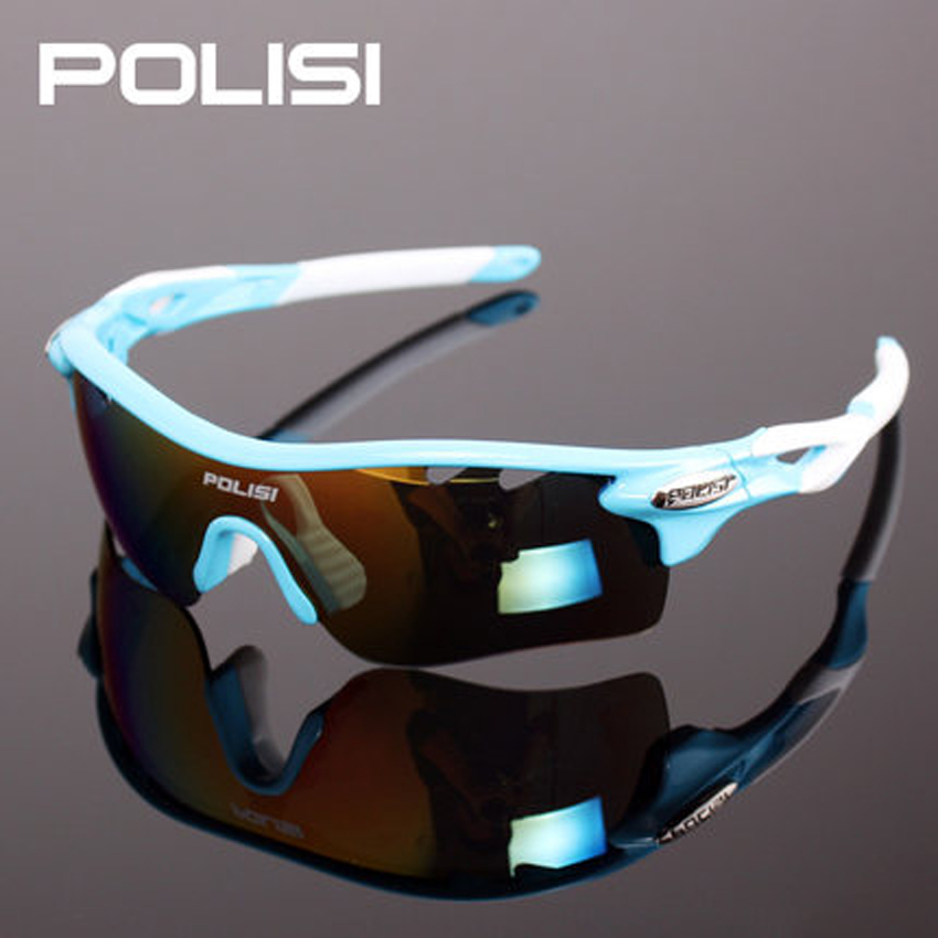 POLISI Brand Unisex Detachable Professional Cycling Sunglasses Set Men's Outdoor Polarized Bicycle Glasses Sports Eyewear veithdia brand fashion unisex sun glasses polarized coating mirror driving sunglasses oculos male eyewear for men women 3360