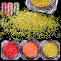 6 Boxes Hexagon Glitter Paillette Ultra-thin Sequins Manicure Nail Art Decoration 1-6 Colors