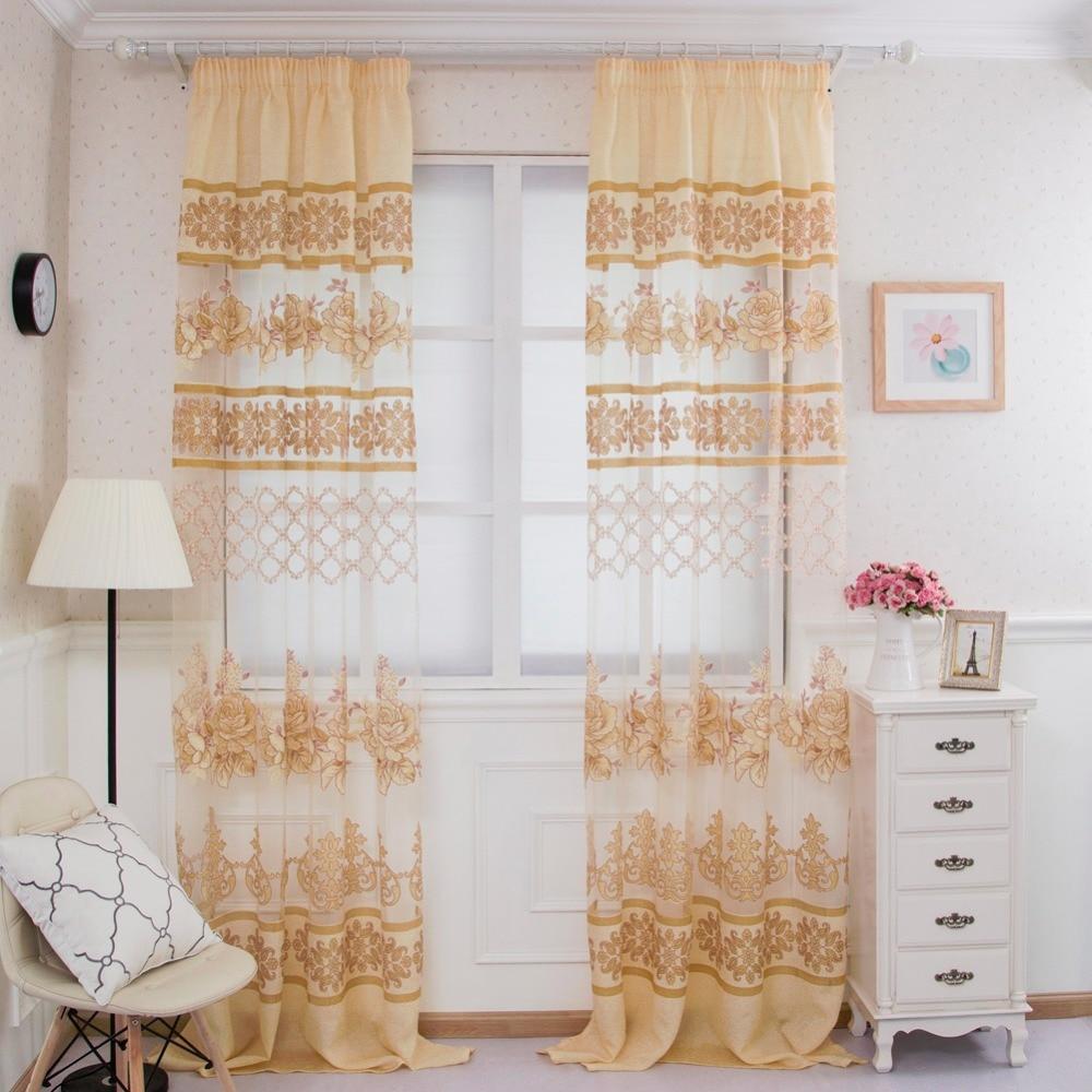 de tul organza telas habitacin dormitorio cortina floral rosado escarpado corto nio cortinas modernas