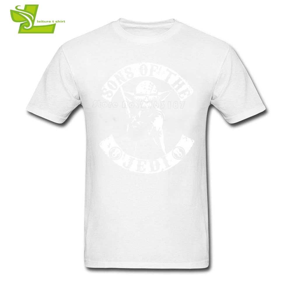 Sons Of The Jedi YODA Dành Cho Người Lớn T Shirt In Sao Wars T-Shirt của Nam Giới Mùa Hè 100% Cotton Áo Phông Teenboys New Arrival quần áo