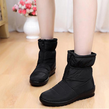 Women Boots Winter Shoes Waterproof Warm Casual Ankle Boots Wedges Platform Shoes Female Botas Mujer Zapatos Black Zipper Shoes стоимость