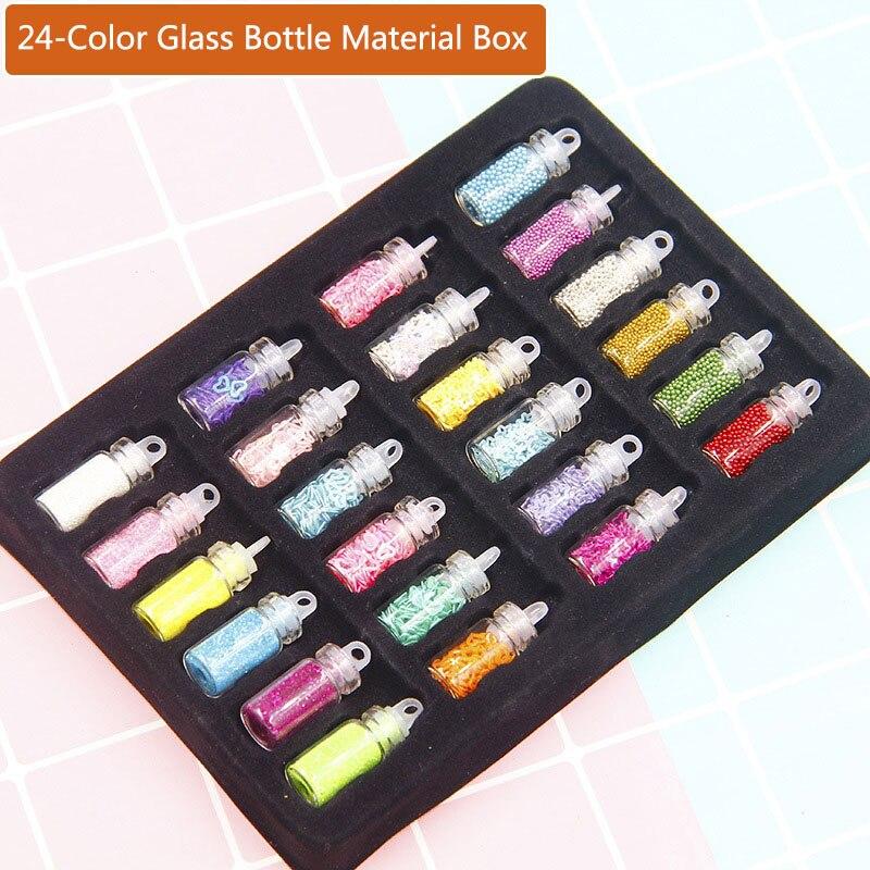 24-12Pcs/Box Sequins/Glitter Filler Fluffy Slime Box Toys For Children Charms Slime DIY Kit Accessories Kit Supplies Funny Gift