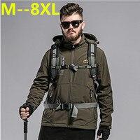 Plus size 10xl 9xl 8xl 6xl Camouflage Mannen Jas Militaire Tactische Jassen Mannen Waterdichte Windjack Regenjas Hunt Kleren
