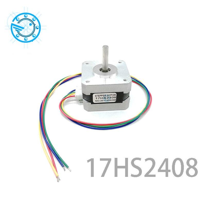 Frete grátis 1 PCS 17HS2408 4-lead Nema 17 Stepper Motor 42 motor 42 BYGH 0.6A CECNC Laser e impressora 3D
