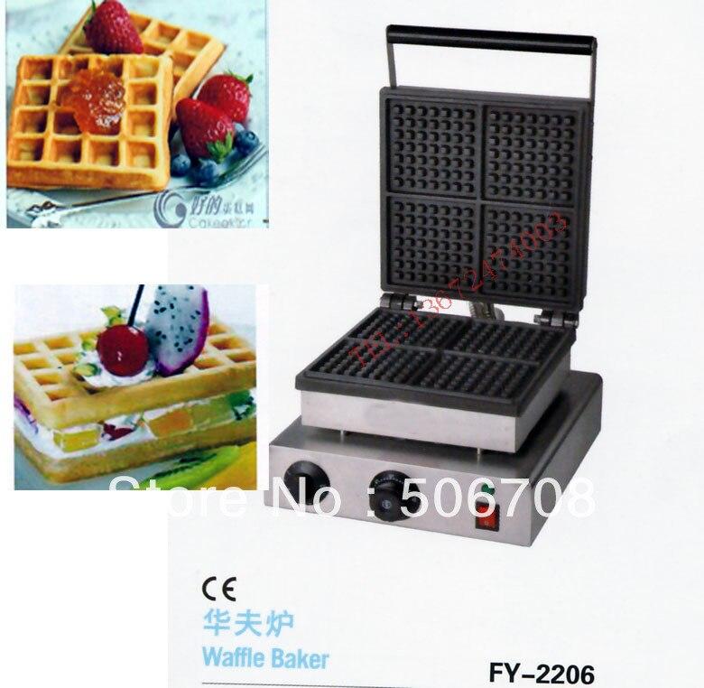Il trasporto libero 4 pz Piazza waffle maker waffle baker