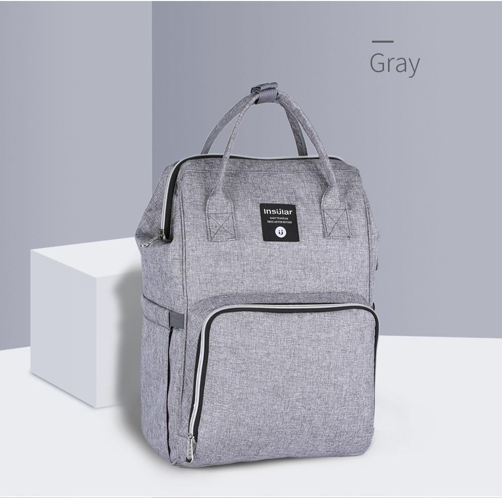 HTB1ygw4cRWD3KVjSZKPq6yp7FXa2 Insular Brand Nappy Backpack Bag Mummy Large Capacity Stroller Bag Mom Baby Multi-function Waterproof Outdoor Travel Diaper Bags