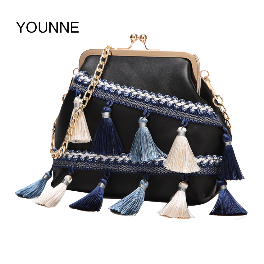 YOUNNE Women Bag Creative New National Wind Hit Color Flow Su Lady Package Fashion Shell Package Chain Shoulder Messenger Bag