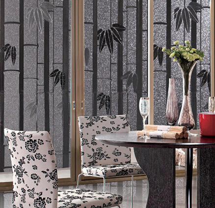 Stained Gl Windows Leaf Decor 92x100cm Frosted Stickers On Bathroom Sliding Door Window Film