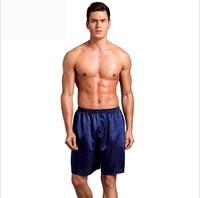 Men Sexy Silk Satin Sleep Bottoms Solid Lounge Pants Leisure Sleepwear For Summer