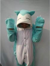 Japanese anime Poke mon fat Cute Snorlax Onesie Umbreon Cosplay Costume Fleece Sleepwear Pajamas Halloween Party Jumpsuit