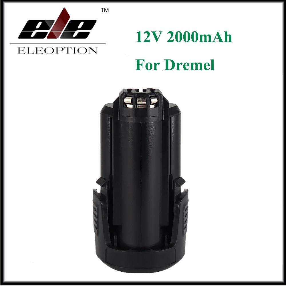Eleoption 12V 2000mAh Li-ion Rechargeable Battery For DREMEL 8200 8220 8300 B812-01 B812-02 2packs 2000mah 12v li ion wa3503 rechargeable battery for worx wu127 wu151 wx6777 wx3827 wx125wx125 6 wx125 7 wx125 m wx126