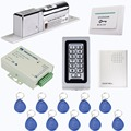 Keypad RFID 125Khz EM Card Access Control System Kit Electric Door Lock+Power Supply Control+Doorbell+10 pcs RFID Cards F1215D