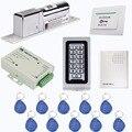 Teclado RFID 125 Khz LOS Cartão Kit Sistema de Controle de Acesso Porta Elétrica Lock + Power Supply Control + Campainha + 10 pcs Cartões RFID F1215D