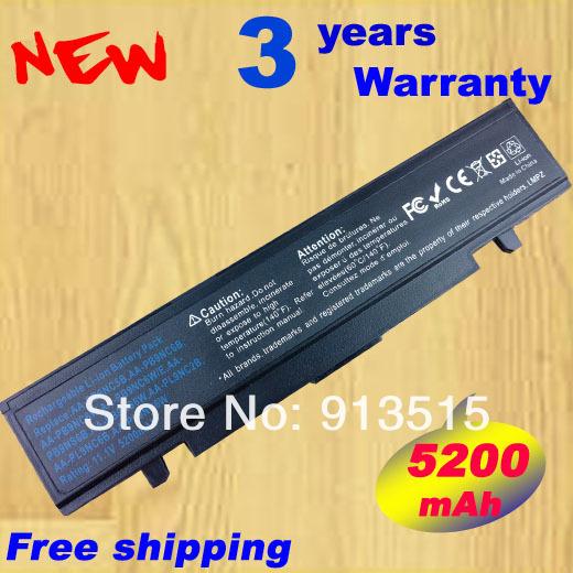 5200 mAh de la batería para Samsung R530 R540 R519 Q430 Q528 R428 NP-R519 NP-R522 AA-PB9NC5B AA-PB9NC6B AA-PB9NS6B AA-PL9NC2B AA-PL9NC6W