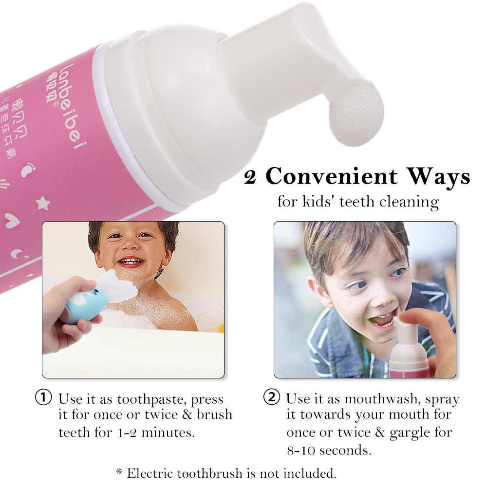 Lanbeibei dla dzieci pasta do zębów do pielęgnacji jamy ustnej pompa Bubble smak truskawkowy 2.1 uncji pianką pasty do zębów dla dzieci higieny jamy ustnej