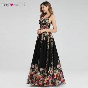 Image 3 - Floral Printed Elegant Prom Dresses Ever Pretty A Line V Neck Sleeveless Sexy Formal Party Dresses EP09016BP Vestidos De Gala