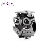 Graduation Study Owl Animal 100 925 Sterling Silver Charm Beads Fits Pandora European Charms Bracelet S2