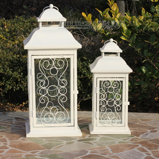 hobbylobby with iron candlestick candlestick ornaments white wedding garden lantern window decorations