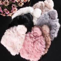 Jesień i zima królik włosów ciepłe dzianiny kapelusz kobiet zestawów jednolity kolor dzikie dome jednolite knitting cap producentów