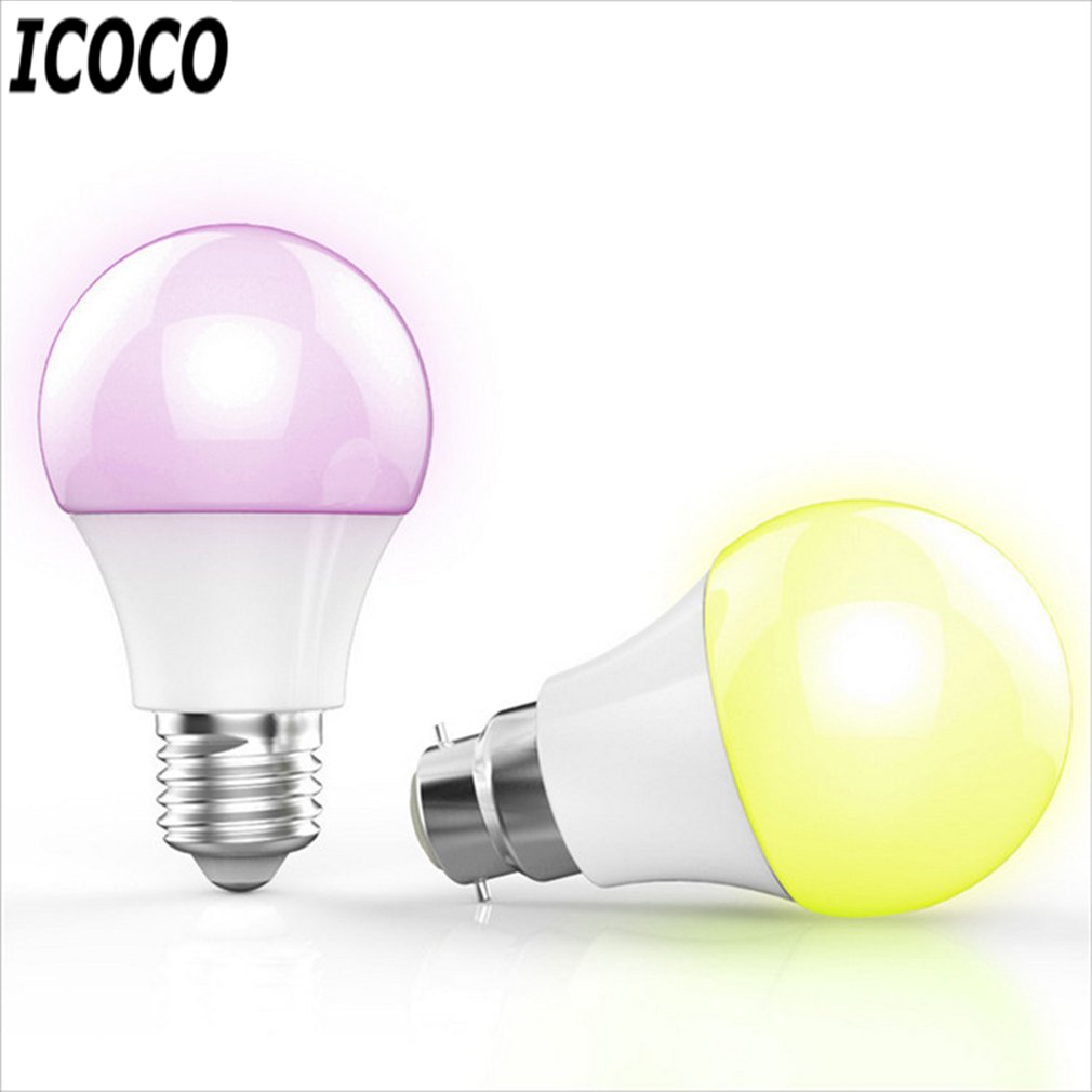 ICOCO Smart Bluetooth LED Light E27 Multicolor Dimmer Bulb Lamp For iOS For Android System Remote Control Anti-interference smart bulb e27 7w led bulb energy saving lamp color changeable smart bulb led lighting for iphone android home bedroom lighitng