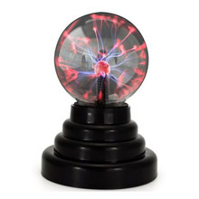 9cm Glass Magic Plasma Ball Moon Night Lamp 3 inch Globe Table Lava Lightning Lampe Supply by USB or AAA Battery Night Light kid