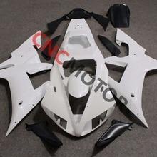 Unpainted Plástico ABS Da Motocicleta Superior Frontal Da Carenagem cowl nose R1 Carroçaria para YAMAHA YZF 2002-2003