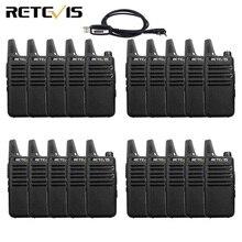 20 шт. мини рация Retevis RT622 RT22 ультратонкая UHF VOX PMR446 FRS Ham радио Hf приемопередатчик двухсторонняя радиостанция